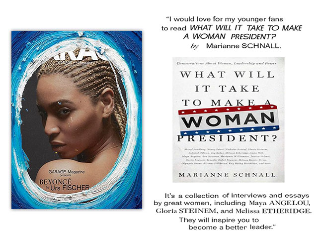 Beyonce recommends What Will It Take to her young readers